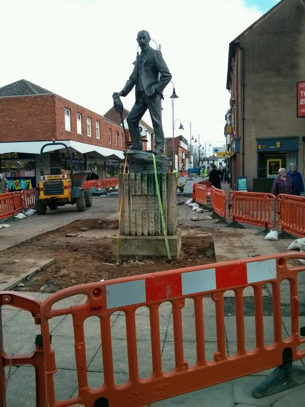 A E Housman looks like he will be going on a trip soon. #bromsgrove http://t.co/RVFQnu9MZS - embedded image
