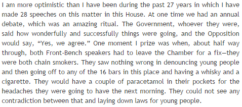 RT Lovely extract from contribution made by @PaulFlynnMP in the drug policy debate in the Commons on Thursday...  - embedded image