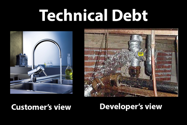RT Technical debt. It's hard to get rid of...  - embedded image