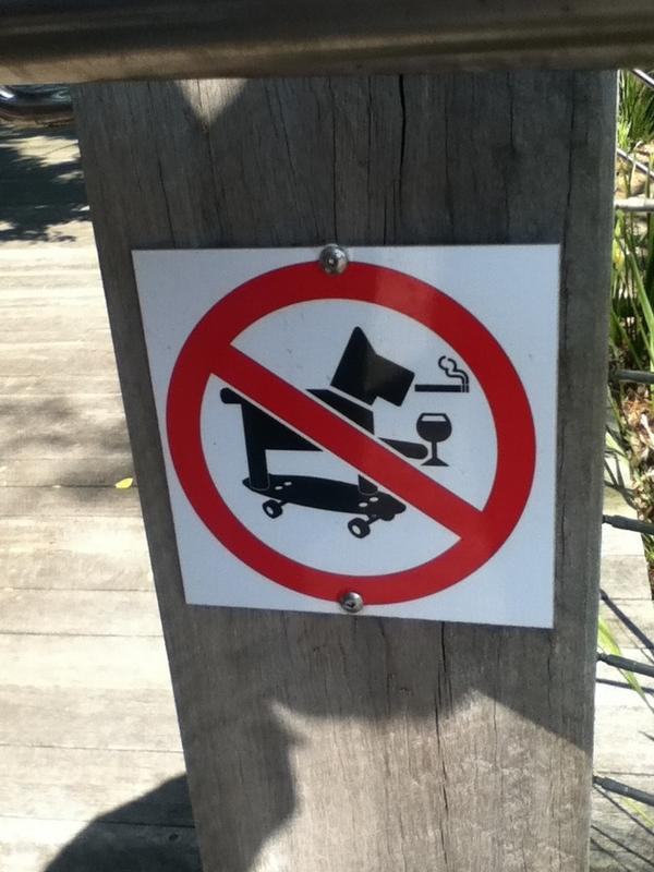 RT This sign is supposed to show you which things are forbidden. But it actually creates the coolest dog ever.  - embedded image