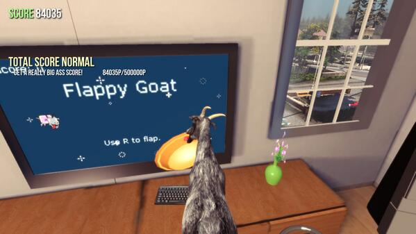 """Flappy goat"" #sillyPicture  - embedded image"