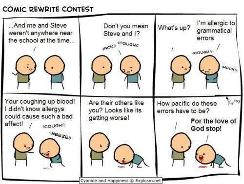Grammar comic.  - embedded image