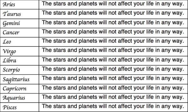 RT Your daily horoscope. I hope it tells you what you need to know (via @ashenfaced)  - embedded image