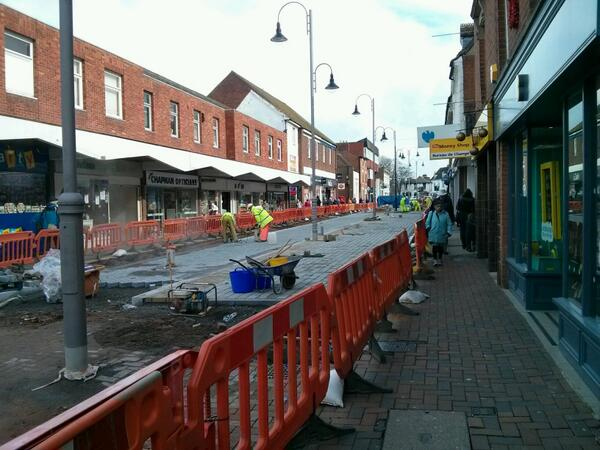 Progress is being made with Bromsgrove's new high street but there's not much space left for shoppers. http://t.co/wsxueW1rvZ - embedded image