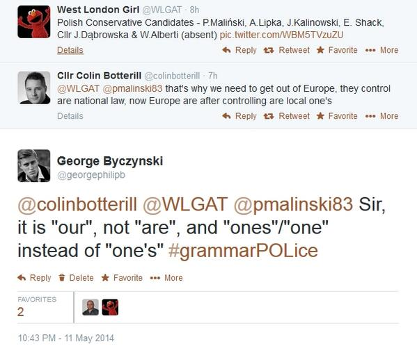 RT Bloody Polish: coming over here and teaching us proper English. Vote Ukip, and stop this outrage  via @georgephilipb - embedded image