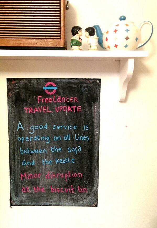 RT Freelancer travel update.  - embedded image