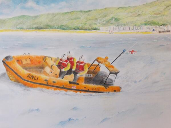 @RNLI @Yorkshireimages completed painting, being framed, local #RNLI branch taking care of it shortly :) http://t.co/iJfLwRLJY8 - embedded image