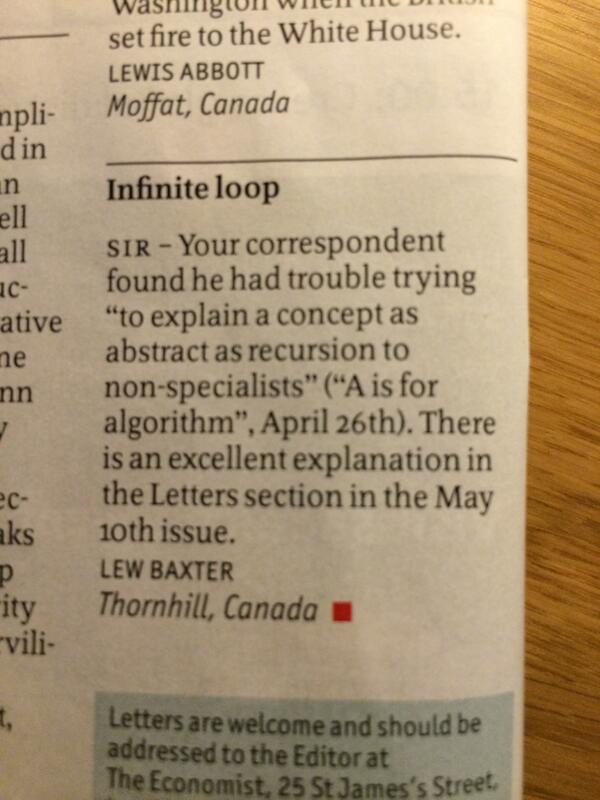 RT Letter of the week, from May 10 issue of @TheEconomist.  - embedded image