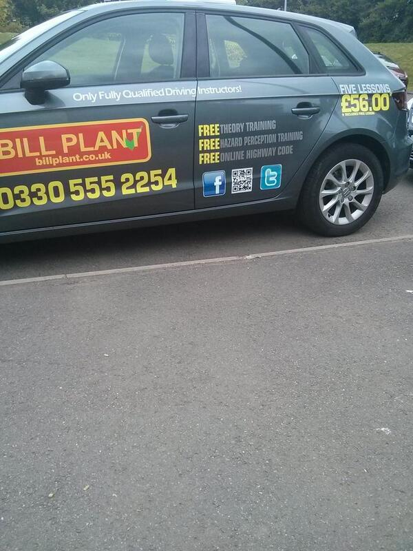 Putting a QR code on a car which can't be read from 2 metres away shows how useless they are.  - embedded image