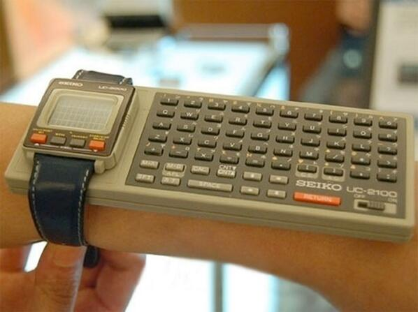 RT As we await the Apple iWatch, don't forget that in 1984 Seiko made an iWatch — of sorts. And boy it was awesome.  - embedded image