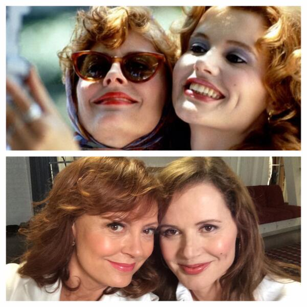 RT Inventors of the #selfie at it again. #ThelmaAndLouise  - embedded image