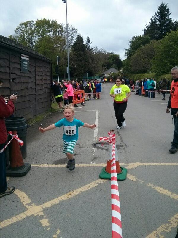 Rowan ran 5km today in his first fun run. He was very happy to have a medal.  - embedded image