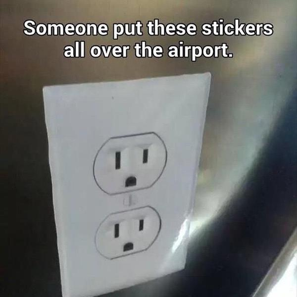 RT Airport trolling at its finest.  - embedded image
