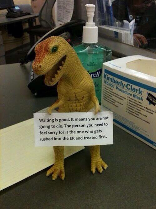 RT This hospital waiting room has some unexpected wisdom.  - embedded image