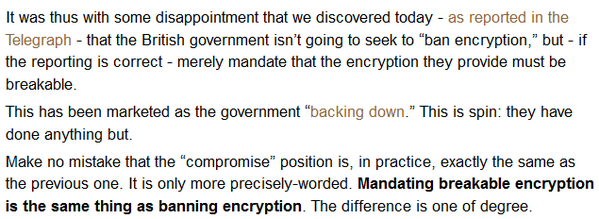 RT Explainer from British industry re: deceptive UK govt spin about weakening crypto security: https://t.co/0blcdCcTAR  - embedded image