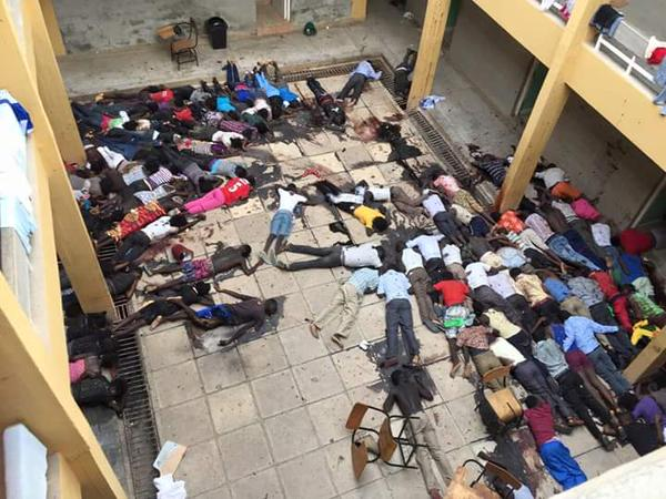 RT 147 people killed in Kenya university shooting. Unlike C. Hebdo attack, no world leader marched. Happy Easter  - embedded image