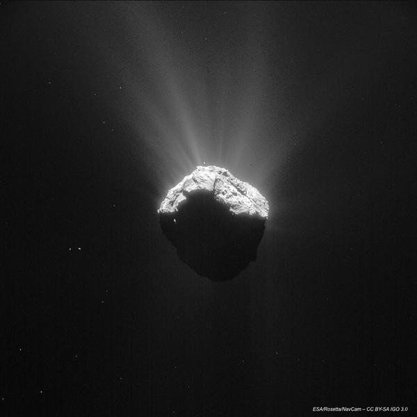 RT Just when I think I've seen #67P from all angles, I caught this unique view!  http://t.co/RdstTkbvAh #CometWatch  - embedded image