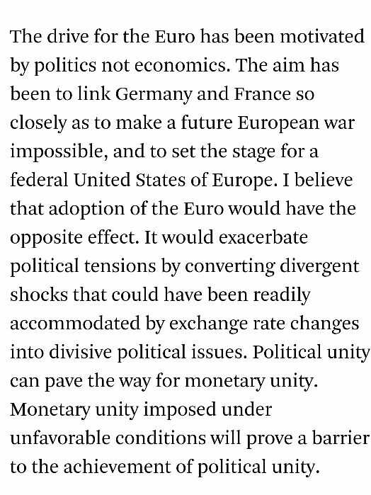 RT Milton Friedman nailed it: Monetary Unity To Political Disunity http://t.co/nKbaUvGhB3 @Frances_Coppola @azizonomics  - embedded image