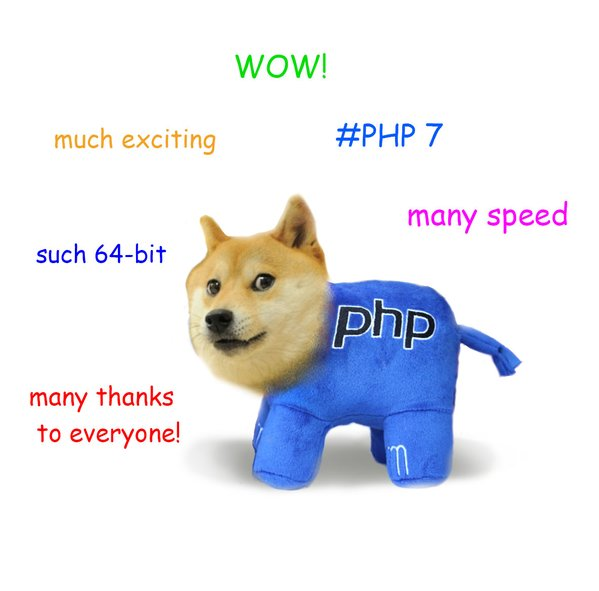 RT #PHP7 #php7thankyou :)  - embedded image