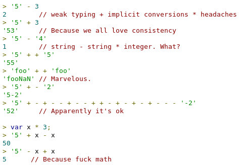 RT The reason why javascript sucks..  - embedded image