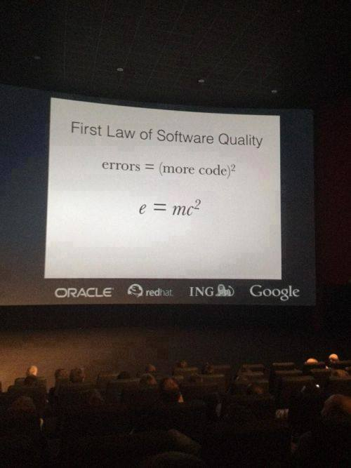 RT First law of software quality  - embedded image