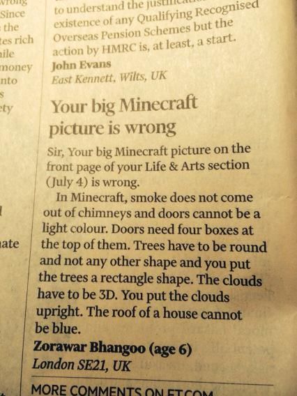 RT Ouch! Letter of the day @FT #minecraft  - embedded image