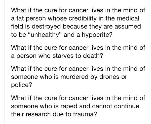 "RT ""What if an aborted fetus would've found the cure to cancer?""  - embedded image 2"