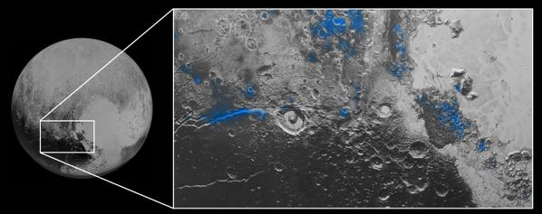RT Amazing! Blue Skies and Water Ice found on #Pluto. Enjoy! :-)  http://t.co/IhzepXEo60  - embedded image