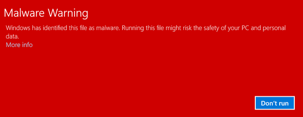 "RT wow, just tried to download FileZilla binaries from sourceforge, selected ""nowrap"", and got a fat Malware warn  - embedded image"