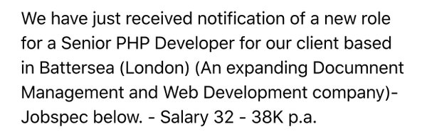 RT Seriously, who could afford a life in London on that, and that's a senior role!  - embedded image