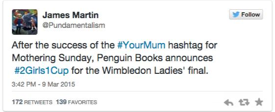 RT The perils of not thinking through the #YourMum hashtag http://t.co/v42j38qe9R  - embedded image