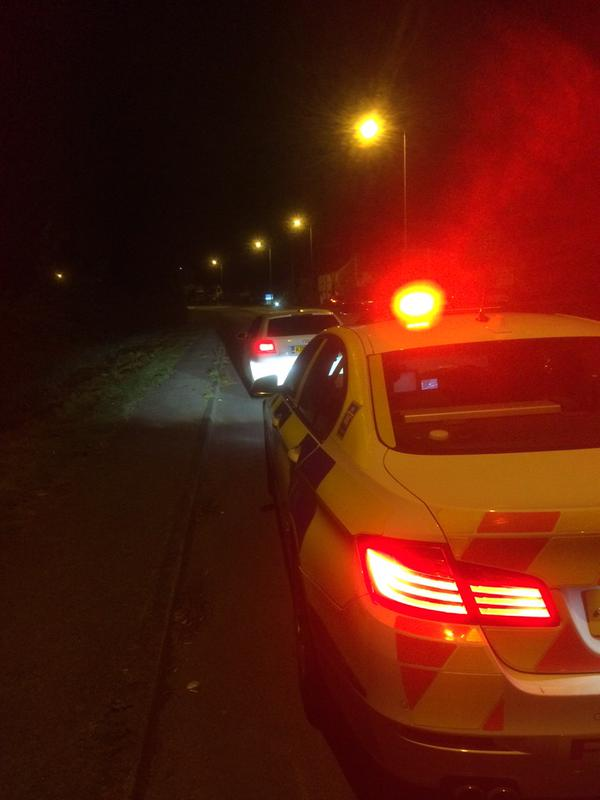 RT Saw this tidy Audi at speed A38 Bromsgrove last night but didn't get to stop it. Same place tonight - no insurance.  - embedded image