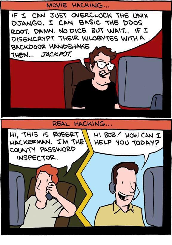 RT An oldie that actually never gets old: Movie Hacking vs Real Hacking. - A classic by @ZachWeiner  #Hackers  - embedded image