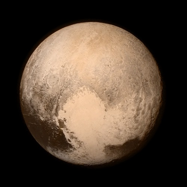 RT Hello #Pluto! We're at closest approach. Congrats to all! Follow our story & view new images using #PlutoFlyby.  - embedded image