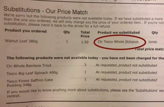 RT Tesco product substitution.  - embedded image