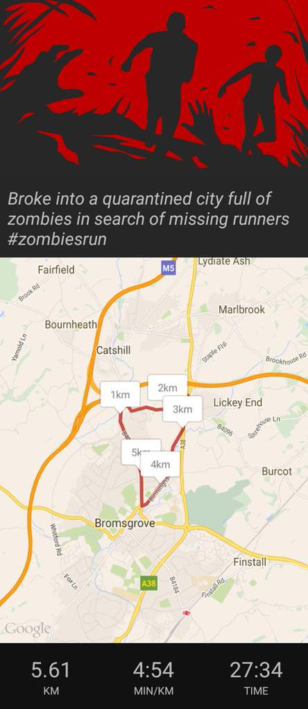 Broke into a quarantined city full of zombies in search of missing runners #zombiesrun  - embedded image