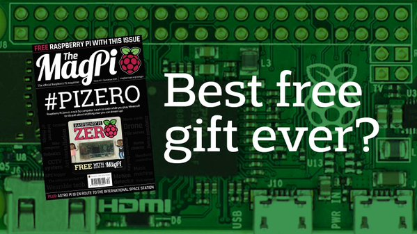 RT Still can't believe there's a COMPUTER bundled with a magazine! https://t.co/OV7RMWJMfC   Good work @magp1 #pizero  - embedded image