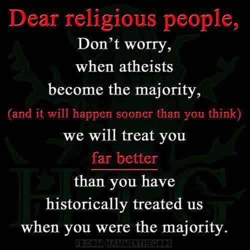 RT Dear theists: don't worry, you'll be treated with respect.  - embedded image