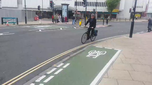 RT Local #Wolverhampton cyclist takes a ride on the new #cyclepath See Fri #expressandstar  - embedded image