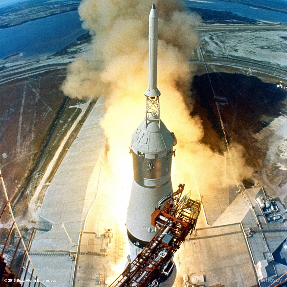 RT 47 years ago today Neil, Mike & I took a ride on a big rocket to the moon.  Liftoff on #Apollo11  - embedded image
