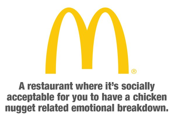 RT Fast food restaurants use some honest slogans for a change.  - embedded image 2
