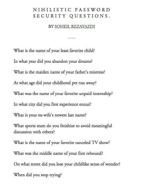 RT Nihilistic Password Security Questions  - embedded image