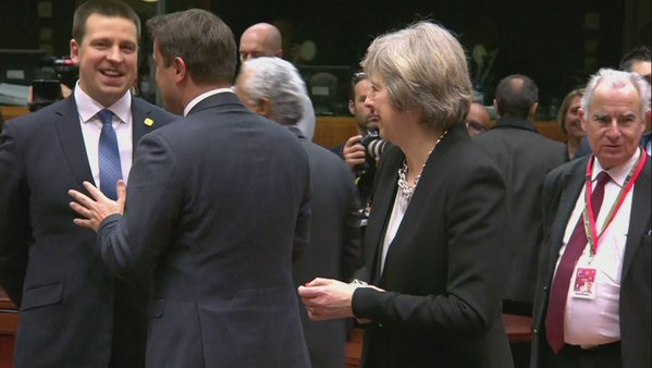 RT Brexit, in a single shot. This morning at the EU summit.  - embedded image
