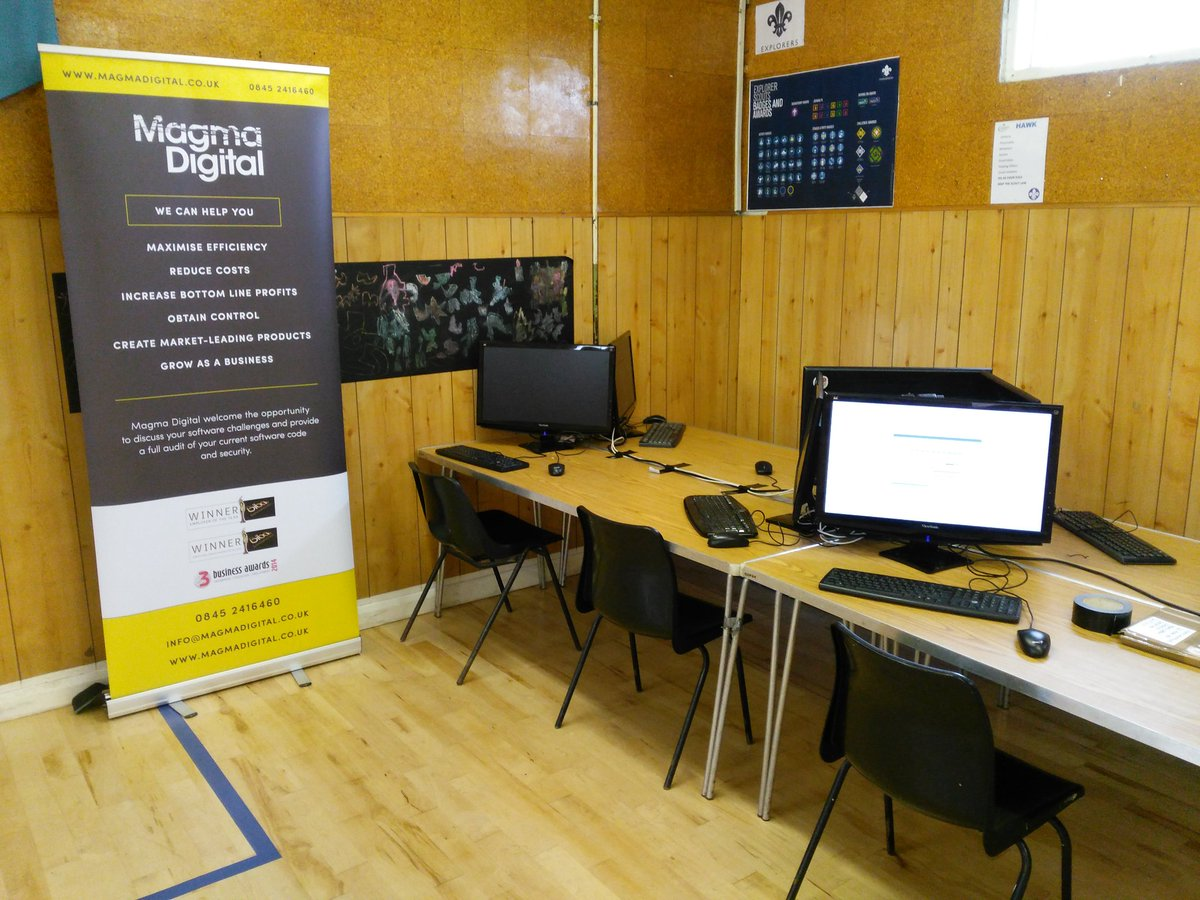 RT 6 raspberry pis all set up and ready to tach some scouts to code this weekend thanks to @magma_digital  - embedded image