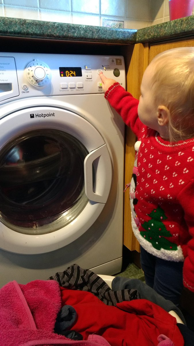 Doing the clothes washing.  - embedded image