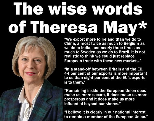 RT This is what Theresa May believed before she put her political career first... #Brexit  - embedded image
