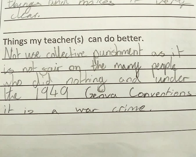 RT My daughter actually submitted this feedback at school. Not sure if I should ground her or buy her ice cream...  - embedded image