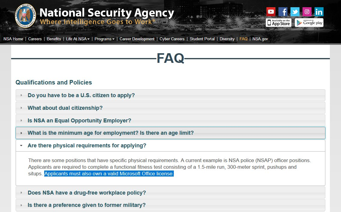 RT BREAKING: NSA updates hiring and application process in light of recent Kaspersky disclosure  - embedded image