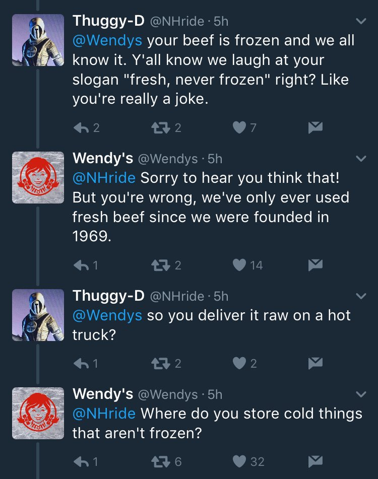 RT if you're having a bad day today, just remember that you didn't get dragged by a fast food company on twitter  - embedded image 1