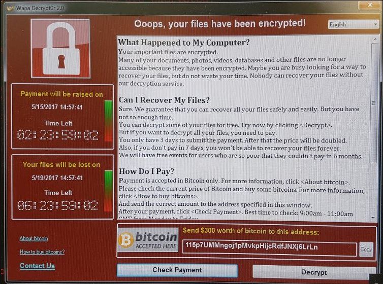 RT Here's the malware attack which appears to have hit NHS hospitals right across England today  - embedded image